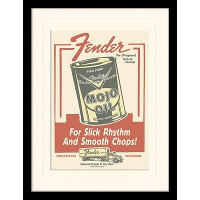 Art Group Fender Mojo Oil Framed Vintage Advertisement