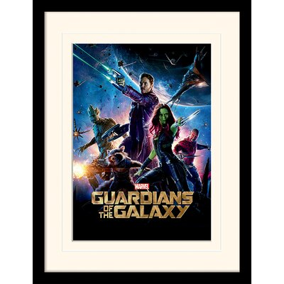 Art Group Guardians of the Galaxy One Sheet Framed Vintage Advertisement