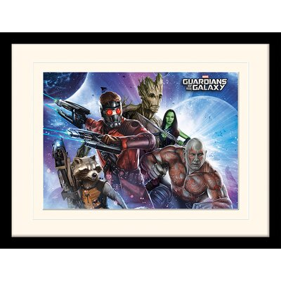 Art Group Guardians of the Galaxy Team Framed Vintage Advertisement