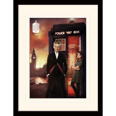 Art Group Doctor Who London Fire Framed Vintage Advertisement