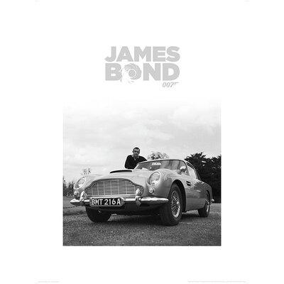 "Art Group James Bond ""Connery B+W"" Graphic Art"