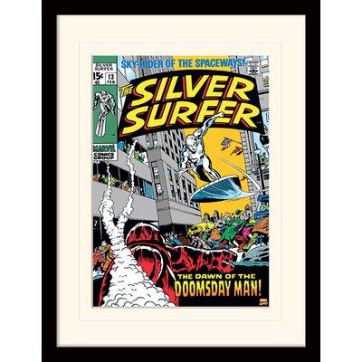 Art Group Silver Surfer Doomsday Man Framed Vintage Advertisement