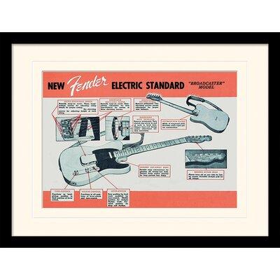 Art Group Fender Electric Standard Framed Vintage Advertisement