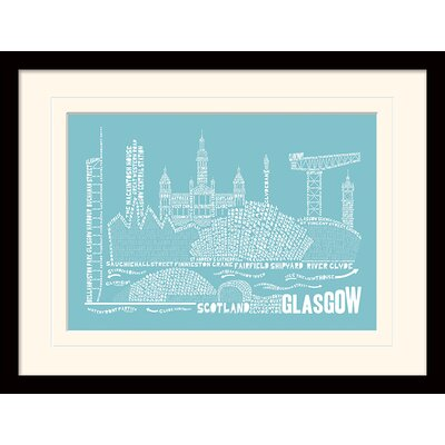 Art Group Citography Glasgow Framed Graphic Art