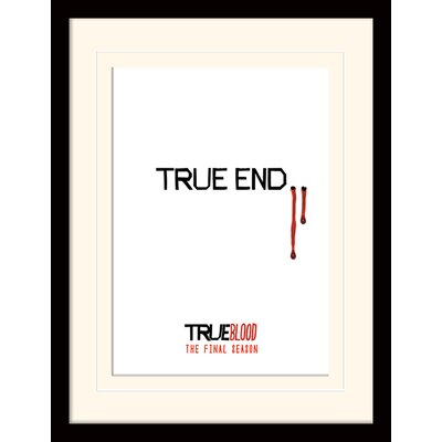 Art Group End - True Blood Textual Framed Typography