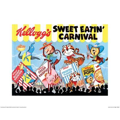 Art Group Vintage Kelloggs - Sweet Eatin Carnival Land Vintage Advertisement