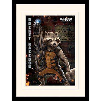 Art Group Guardians of the Galaxy Rocket Raccoon Framed Vintage Advertisement