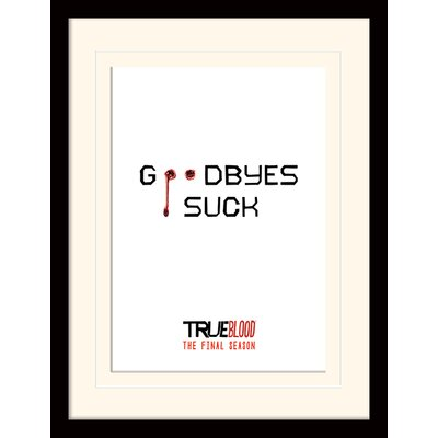 Art Group Goodbyes Suck - True Blood Framed Typography