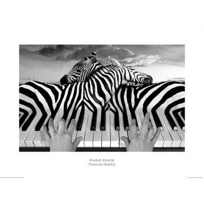Art Group Piano Peace by Thomas Barbey Graphic Art
