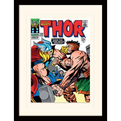 Art Group Whom the Gods Would Destroy - Thor Framed Vintage Advertisement