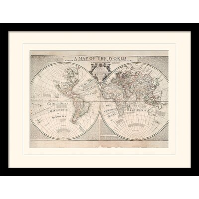 Art Group The World Senex and Maxwell 1711 Framed Graphic Art