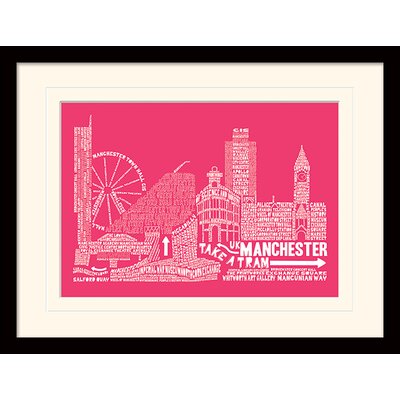 Art Group Citography Manchester Framed Graphic Art