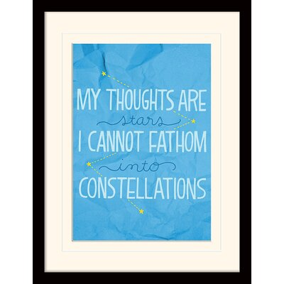 Art Group Constellations - The Fault in Our Stars Framed Typography