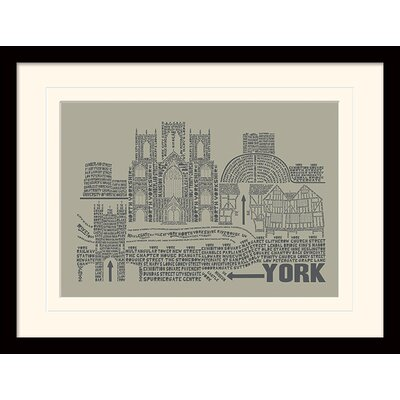 Art Group Citography York Framed Graphic Art