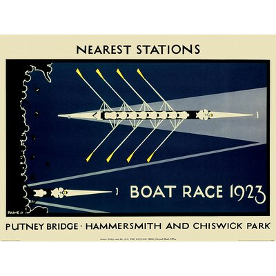 Art Group Transport for London - Boat Race 1923 Vintage Advertisement