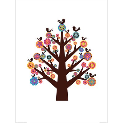 Art Group Tree of Flowers by Valentina Ramos Graphic Art