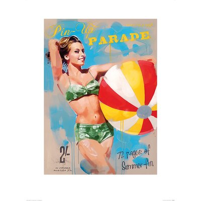 Art Group Pin-Up Parade by James Paterson Vintage Advertisement