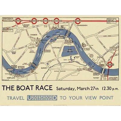 Art Group Transport for London - Boat Race Map Vintage Advertisement