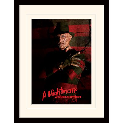 Art Group A Nightmare On Elm Street Freddy Krueger Mounted Framed Vintage Advertisement