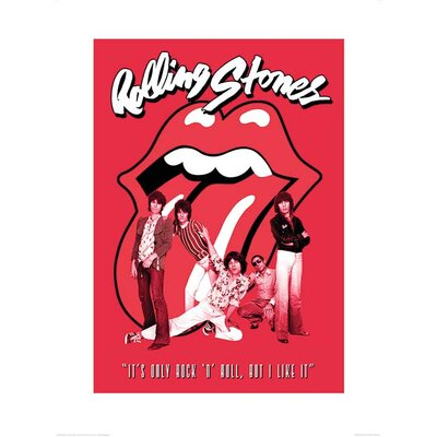 Art Group Rolling Stones It's Only Rock n Roll Vintage Advertisement