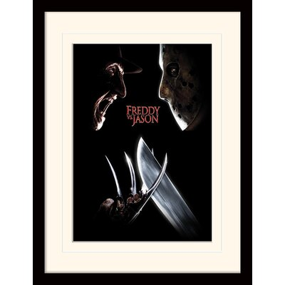 Art Group Freddy Vs Jason  Face Off Framed Vintage Advertisement