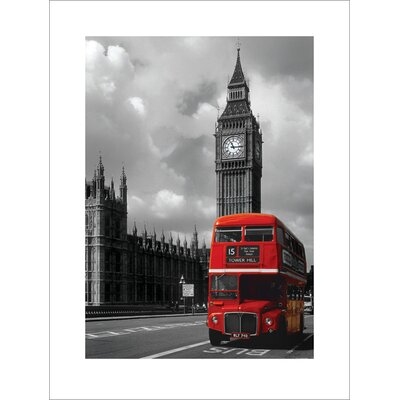 Art Group London Red Bus Graphic Art