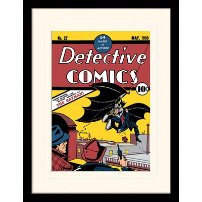 Art Group Detective Comics Batman Mounted Framed Vintage Advertisement