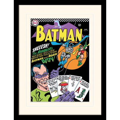 Art Group The Riddler Batman Mounted Framed Vintage Advertisement