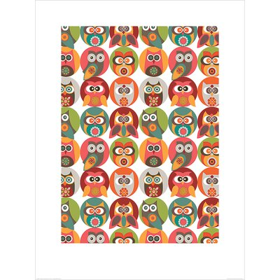 Art Group Owls Family by Valentina Ramos Graphic Art