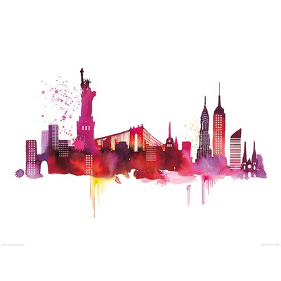 Art Group New York Skyline by Summer Thornton Graphic Art