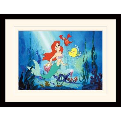 Art Group Little Mermaid Ariel Mounted Framed Vintage Advertisement