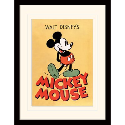 Art Group Mickey Mouse Mickey Mounted Framed Vintage Advertisement