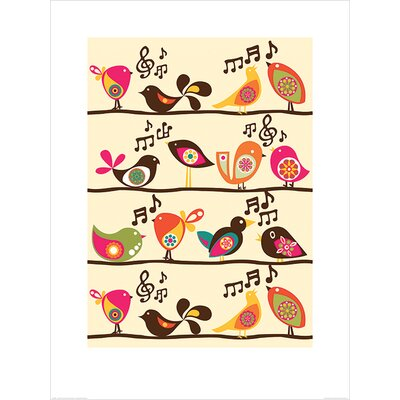 Art Group Singing Birds by Valentina Ramos Graphic Art
