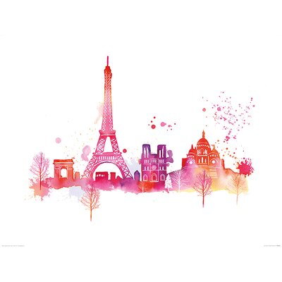 Art Group Paris Skyline by Summer Thornton Graphic Art