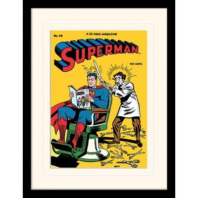 Art Group Superman Barber Framed Graphic Art