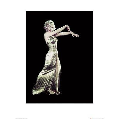Art Group Time Life - Marilyn Monroe Gold Dress Photographic Print