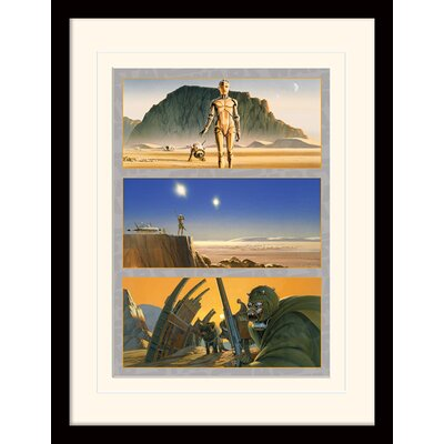 Art Group Star Wars Tatooine: The Saga Begins Framed Vintage Advertisement
