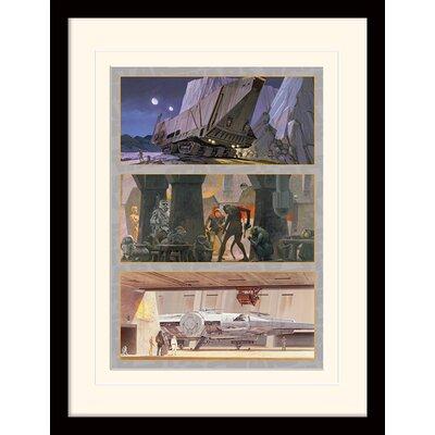 Art Group Star Wars Tatooine and Mos Eisley Framed Vintage Advertisement