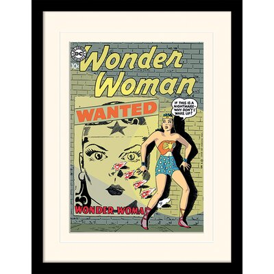 Art Group Wanted - Wonder Woman Framed Vintage Advertisement
