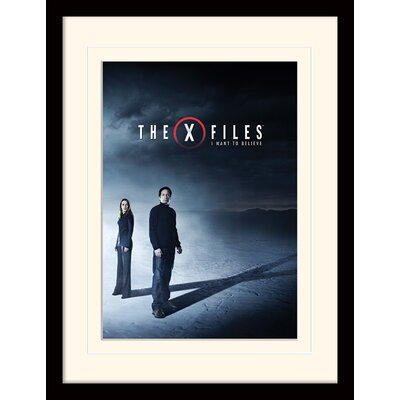 Art Group I Want To Believe - The X-Files Framed Vintage Advertisement