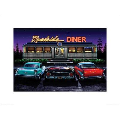 Art Group Roadside Diner, Helen Flint Vintage Advertisement