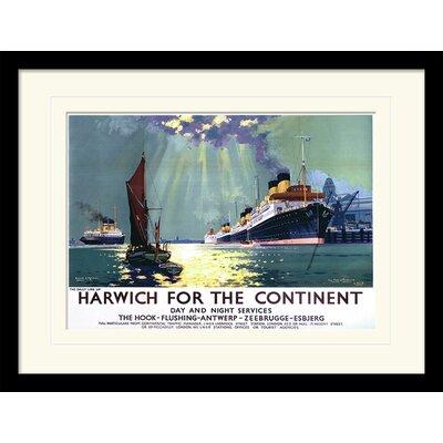 """Art Group Harwich """"1"""" Framed Vintage Advertisement"""