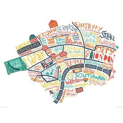 Art Group London Map by Benoit Cesari Graphic Art