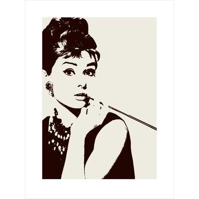 Art Group Cigarello Audrey Hepburn Graphic Art