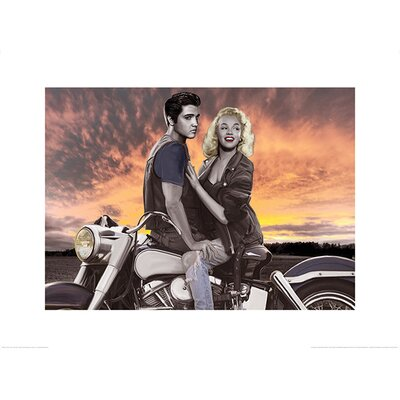 Art Group Sunset Ride  by Joshua M. Nelson Graphic Art