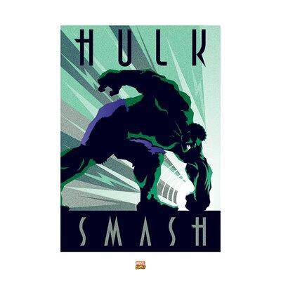 Art Group Marvel Deco Hulk Vintage Advertisement