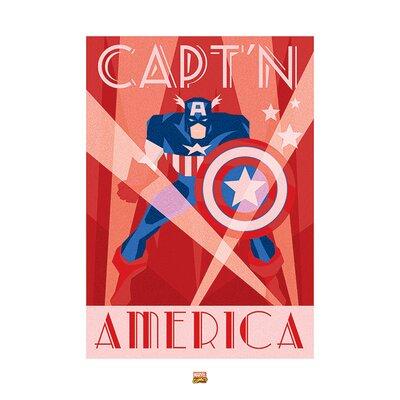 Art Group Marvel Deco Captain America Vintage Advertisement