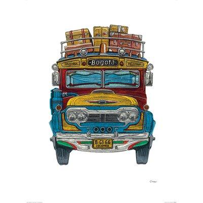 Art Group Columbian Bus by Barry Goodman Graphic Art