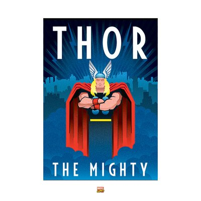 Art Group Marvel Deco Thor Vintage Advertisement