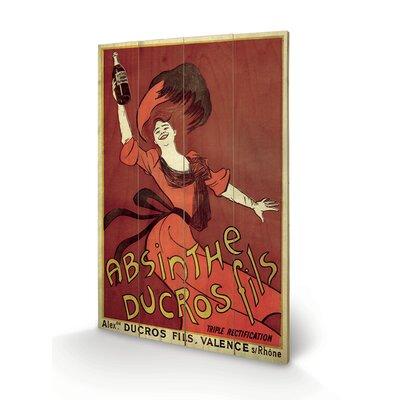 Art Group Absinthe Ducros Vintage Advertisement Plaque